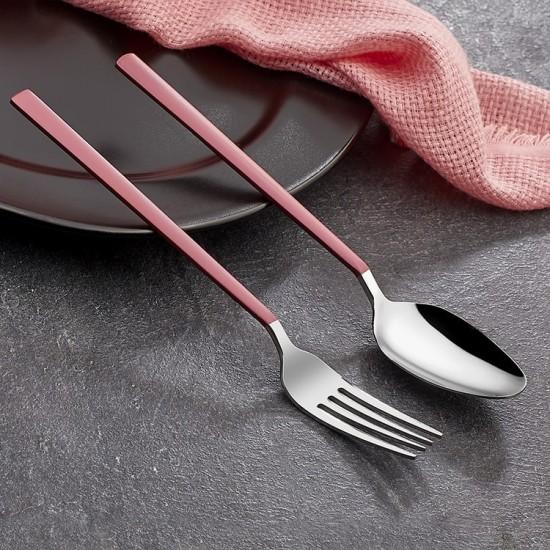Pink Touch Mat 30 Parça Çatal Kaşık Bıçak Takımı