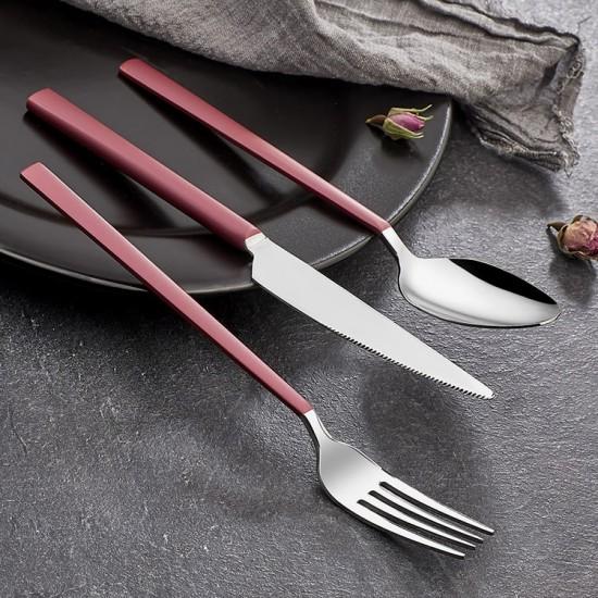 Pink Touch Mat 60 Parça Çatal Kaşık Bıçak Takımı