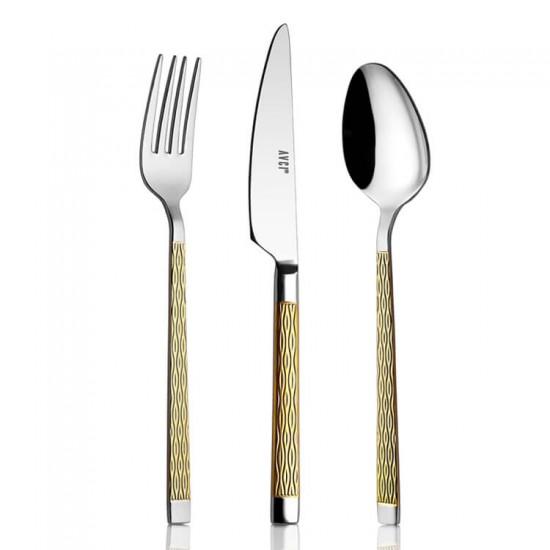 Pera Gold 30 Parça Çatal Kaşık Bıçak Takımı