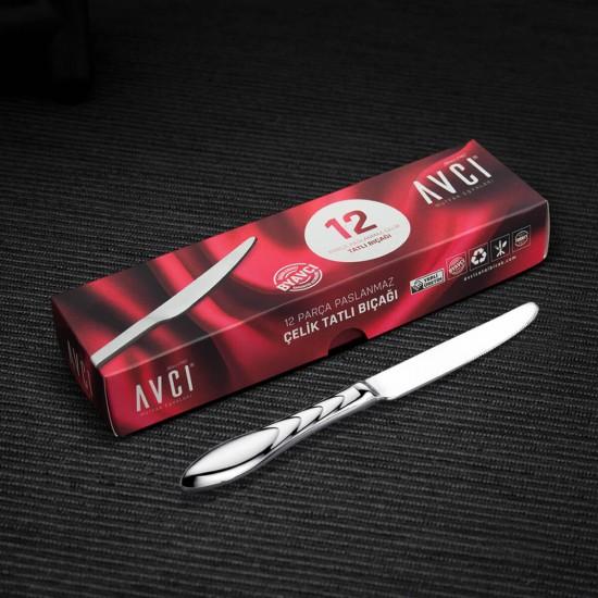 Platin 12 Parça Tatlı Bıçağı