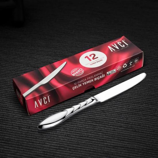 Platin 12 Parça Yemek Bıçağı