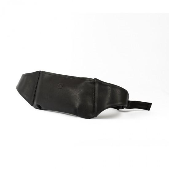 DD Suni Deri Siyah Bel Çantası