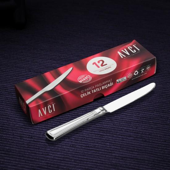 Narin 12 Parça Tatlı Bıçağı
