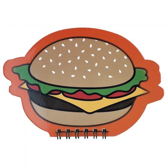Hamburger Tasarimli Şekilli Defter