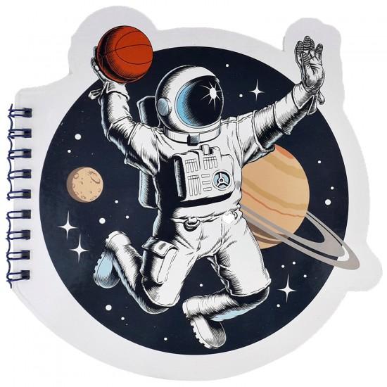 Basketbol Oynayan Astronot Tasarimli Şekilli Defter