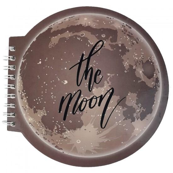 Moon Tasarimli Şekilli Defter