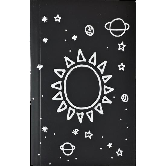 Satürn Güneş Tasarimli Cep Defteri