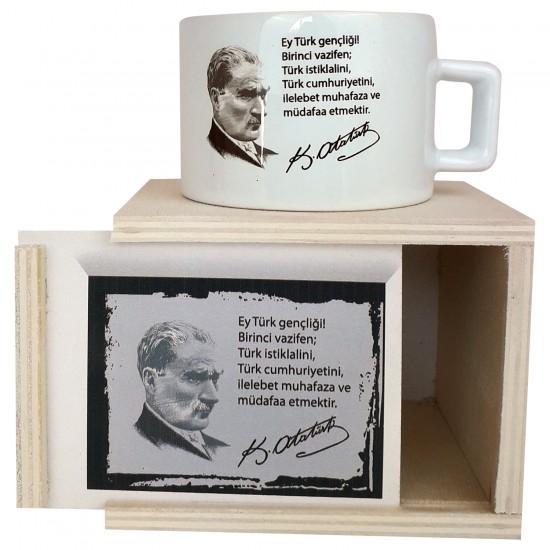 M.Kemal Atatürk Kutulu Tasarim Kupa
