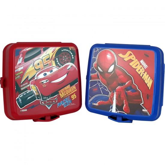 Hakan Çanta Disney Spiderman Ve Cars Dört Bölmeli Beslenme Kabi