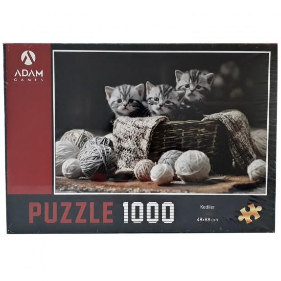 Adam Games Kediler Temali Puzzle 1000 Parça