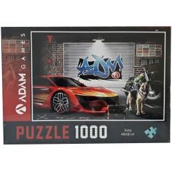 Adam Games Garaj Temali Puzzle 1000 Parça
