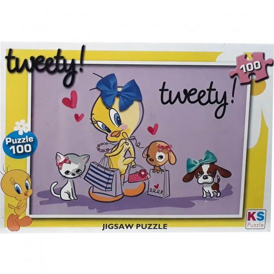 Tweety Puzzle 100 Parça