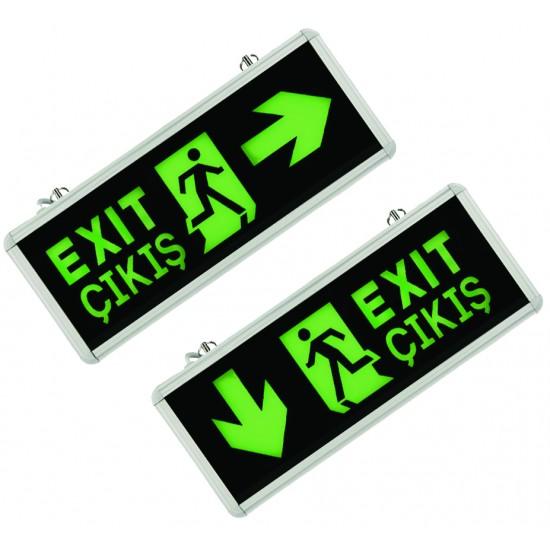 Kexit101 Exit Acil Çikiş Arm. Led Yan