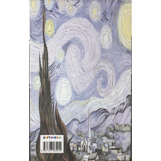 Van Gogh Tasarimli Cep Defteri