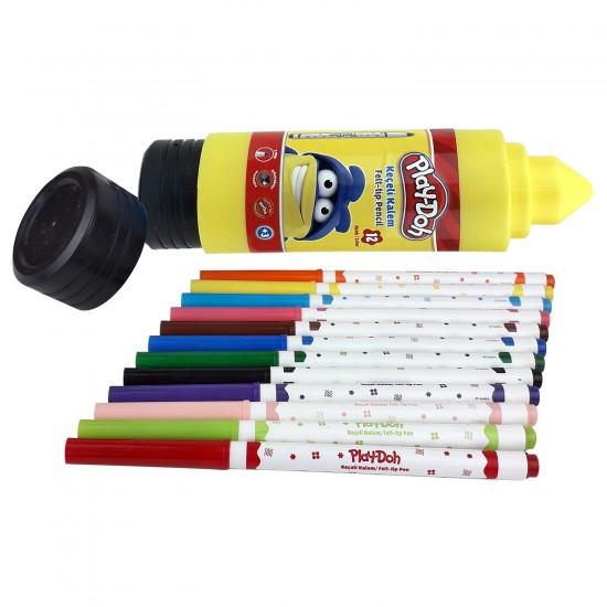 Play-Doh 12 Renk Keçeli Boya Kalemi
