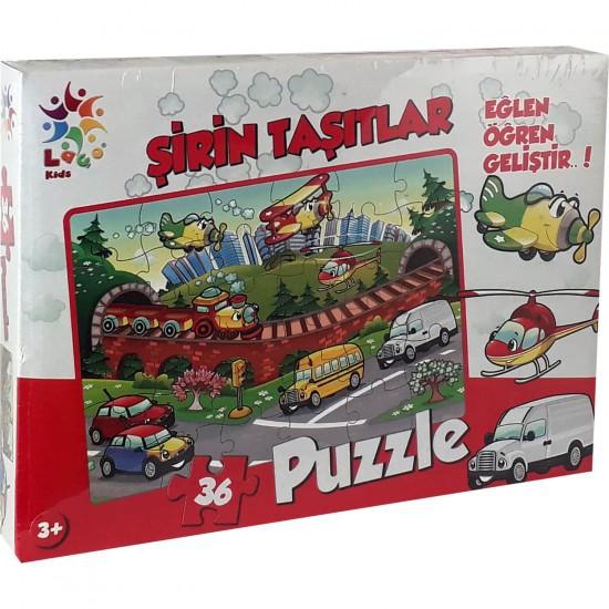 Şirin Taşitlar Puzzle 36 Parça